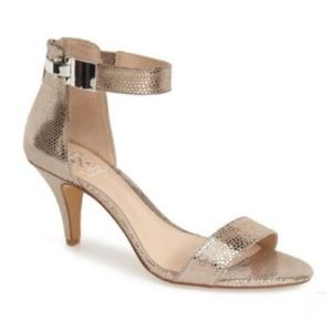 Vince Camuto Magner Heels Metallic Taupe